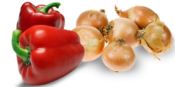 peperoni e cipolle - Cucina di Sicilia