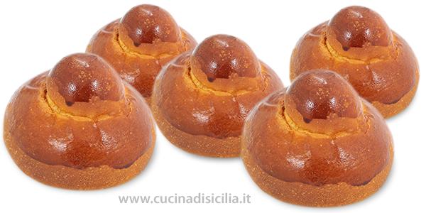 brioche co tuppu - Cucina di Sicilia