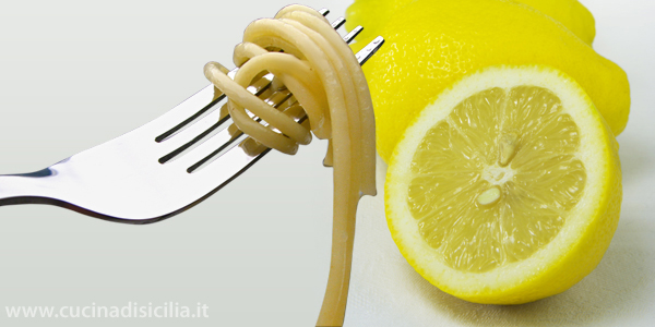 spaghetti al profumo di limone - Cucina di Sicilia