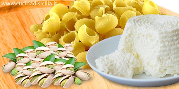 lumaconi  ricotta e pistacchi - Cucina di Sicilia