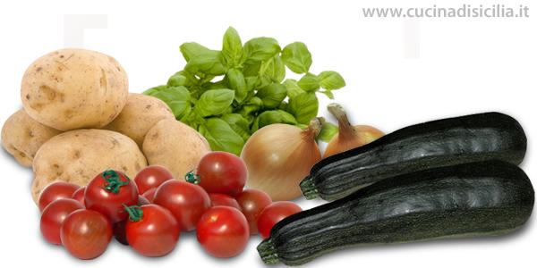 patate zucchine e pomodori alla siciliana- Cucina di Sicilia