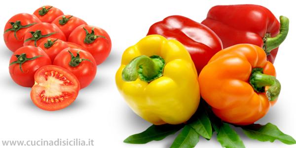 peperoni e pomodori ripieni - Cucina di Sicilia