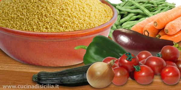 couscous vegetariano - Cucina di Sicilia